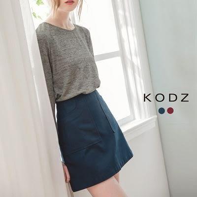 東京著衣【KODZ】口袋A字短裙-S.M.L(6021113)