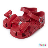 PIMPOLHO 可愛蝴蝶結鏤空小童鞋-紅色