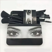 美國 外貿12支化妝刷子套裝初學者 鐵盒便攜式可愛化妝刷子