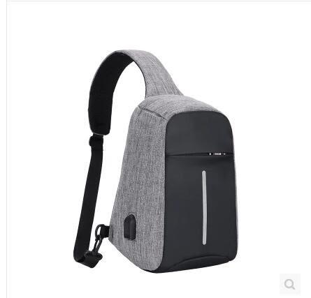 24H快速出貨USB充電 單肩包 斜挎包 胸包 防盜包 旅行戶外必備