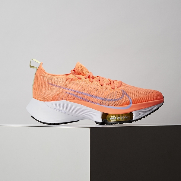 Nike Air Zoom Tempo Next% FK 女鞋 橘 襪套 氣墊 避震 慢跑鞋 CI9924-800