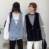 秋季2020年新款韓版寬鬆顯瘦V領無袖牛仔馬甲女裝學生背心外套潮 【ifashion·全店免運】