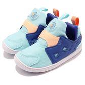 Reebok Ventureflex Slip-On 藍 橘 襪套式 經典鞋款 無鞋帶 童鞋 小童鞋【PUMP306】 CM9145