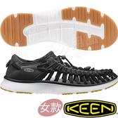 KEEN 1017055黑色 Uneek O2 女戶外護趾編織涼鞋 溯溪鞋/水陸兩用鞋/運動健走鞋/沙灘戲水鞋