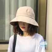 漁夫帽 女防曬漁夫帽遮陽夏季遮臉帽子時尚百搭逛街西瓜帽 5色
