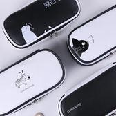 聖誕預熱  文具盒男女日韓簡約中小學生兒童大容量創意PU多功能筆袋女鉛筆盒 艾尚旗艦店