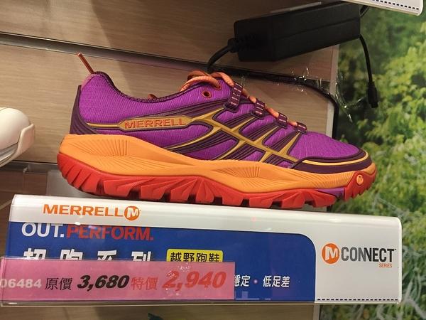 [好也戶外] Merrell ALL OUT避震型女越野跑鞋 紫紅橘 NO.ML06484(65折出清)