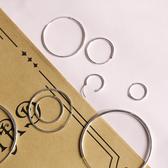 極簡幾何大小圓圈百搭純銀耳環/設計家
