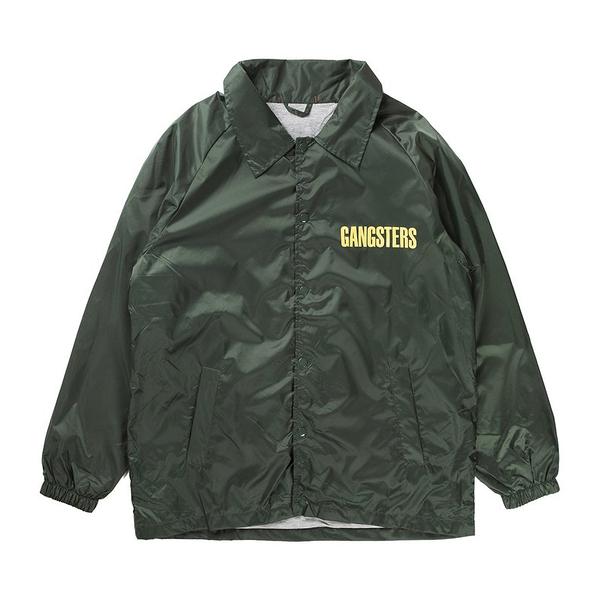 CLONEY GANGSTERS 綠 外套 黑幫 教練 夾克 防風 小賈斯汀【GT Company】