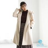 「Winter」連帽長版大衣外套 - earth music&ecology