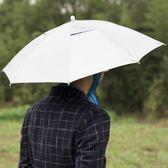 傘帽    雙層釣魚傘帽便攜頭戴傘防曬太陽傘折疊釣魚傘雨傘帽igo  瑪麗蘇