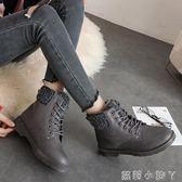 雪地靴女短筒學生冬季短靴子保暖加絨加厚防滑雪地棉女棉鞋防水秋 蘿莉小腳ㄚ