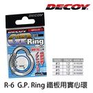 漁拓釣具 DECOY G.P Ring R6 #4 #5 鐵板用實心環