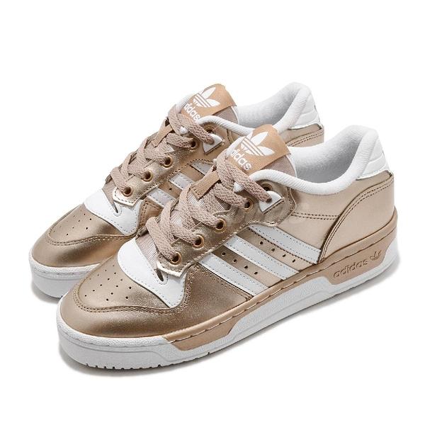 【海外限定】adidas 休閒鞋 Rivalry Low 金 白 女鞋 三葉草 運動鞋 【ACS】 EE5931