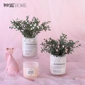 (交換禮物)ins北歐假花仿真花客廳擺設薰衣草滿天星盆栽擺件塑料花藝裝飾品