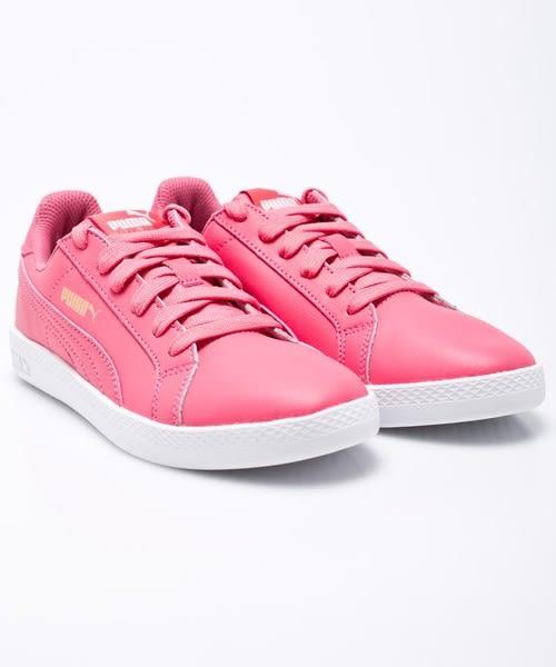 PUMA SMASH WNS L 女鞋 休閒 慢跑 網球 皮革 低筒 粉【運動世界】36078016
