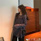 防曬罩衫 2020新款夏季韓版豹紋薄款防曬衣寬鬆大版罩衫網紅長袖T恤女潮 愛丫 新品
