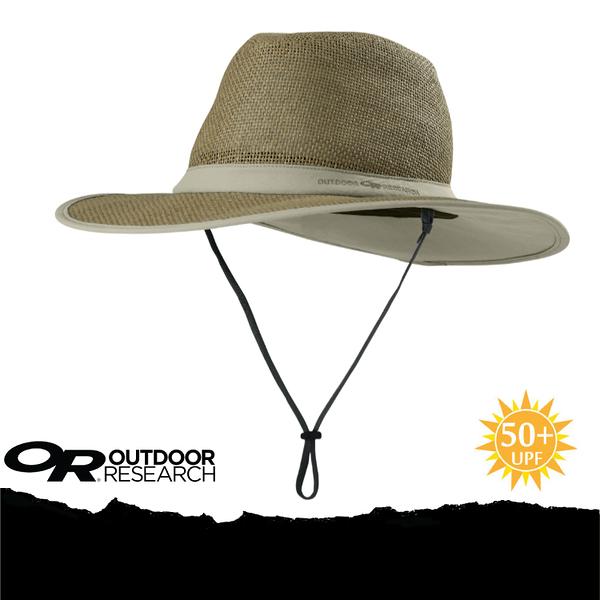 【Outdoor Research 美國  PAPYRUS BRIM SUN HAT 抗UV透氣草編織帽/L《卡其》】243408-0800/UPF50+/遮陽帽★滿額送