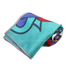 (B6) 矽膠止滑瑜珈巾 瑜珈鋪巾 超細纖維 止滑鋪巾 瑜珈墊 地墊 SNAY13藍綠 [陽光樂活]