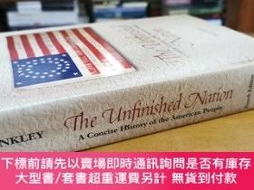 二手書博民逛書店英文原版:THE罕見UNFINISHED NATION A Concise History of the Amer
