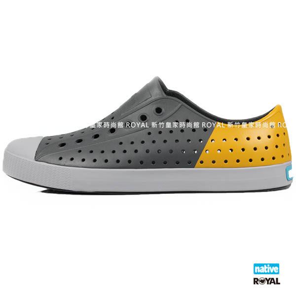 加拿大 Native 新竹皇家 JEFFERSON 灰/黃 輕量 懶人鞋 男款 NO.A9120