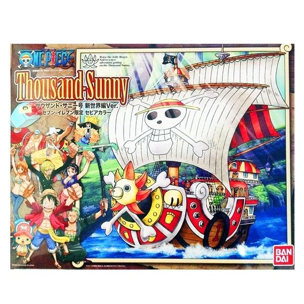 又敗家(現貨)日本製造BANDAI海賊王Thousand-Sunny新世界篇千陽號716279航海王ONE模型PIECE