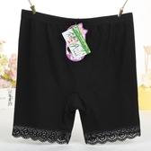 莫代爾安全褲女夏薄款防走光打底褲大碼保險褲無痕蕾絲三分短褲