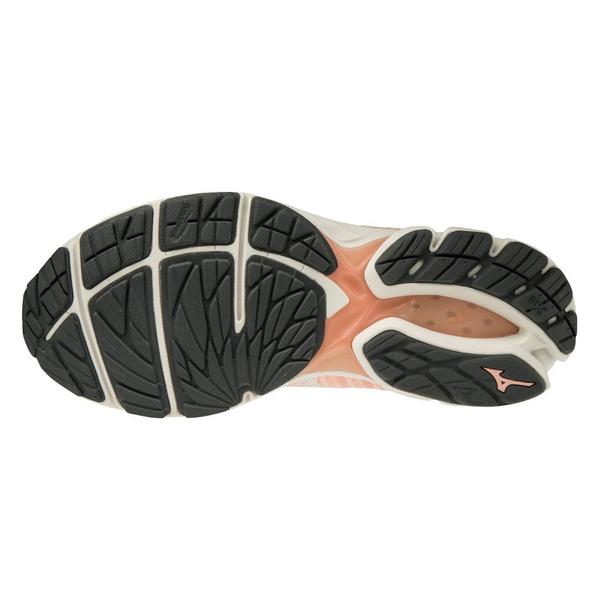 Mizuno Wave Rider Waveknit 3 [JIGD192915] 女鞋 運動 休閒 慢跑 彈性 粉米