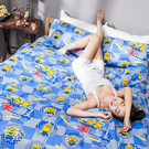 床包被套組 / 雙人【小小兵壞蛋來了】含兩件枕套  高密度磨毛布  戀家小舖台灣製ABF212