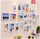 小鄧子客廳照片牆裝飾 相框牆歐式相框創意掛牆組合相片牆(主圖款-28框全白)