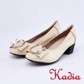kadia .柔軟舒適造成金屬飾釦包鞋9007 00 杏色