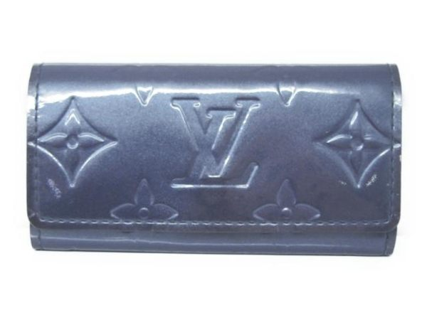 LV LOUIS VUITTON 路易威登 紫色漆皮四孔鑰匙包 Multicles 4 M91359【BRAND OFF】