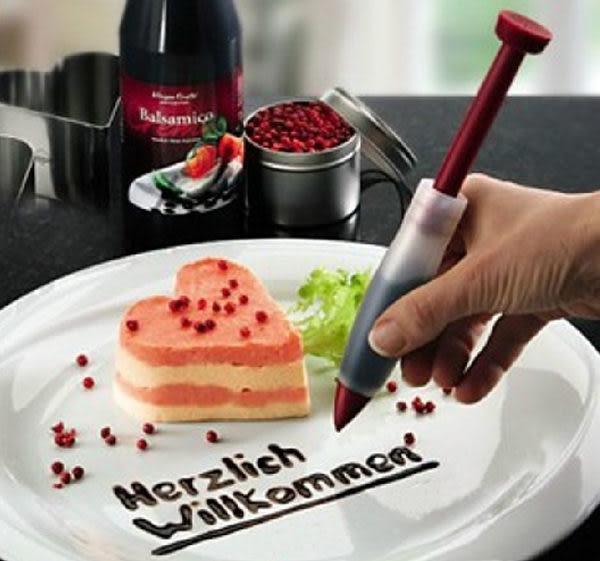 矽膠巧克力筆 裝飾擠醬筆 壽司飯糰裱花筆 蛋糕寫字筆