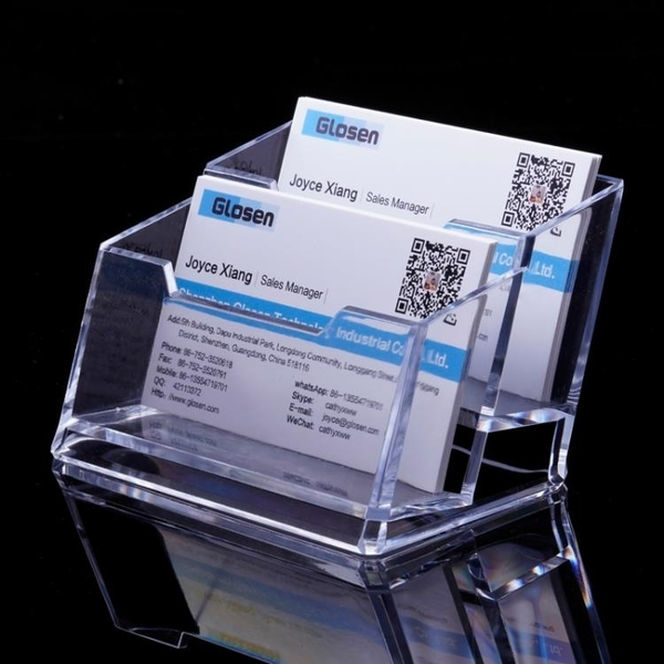 透明名片盒壓克力多層名片座2個