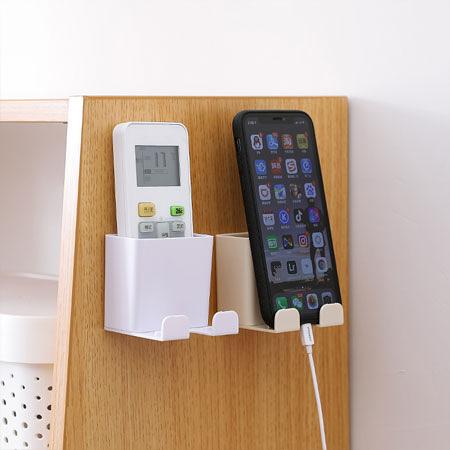 壁掛式遙控器收納盒 電視遙控器 冷氣遙控器 插頭收納 手機充電支架 充電座 收納 置物