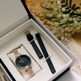 GOTO 新緣起不滅系列 簡約時尚手錶 米蘭帶 皮帶 玫瑰金電鍍x黑 女錶 GM2040L-44-341-1