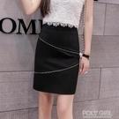 窄裙 半身裙女春夏款顯高瘦時尚包臀裙子黑色短裙一步裙緊身OL職業 夏季新品