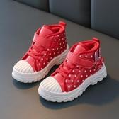 女童靴 秋冬童鞋女童靴子兒童雪地靴 棉鞋馬丁靴 男童短靴皮棉靴防水【新年禮物】