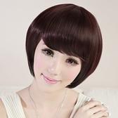 假髮(短髮)-時尚可愛甜美斜瀏海女假髮2色73ek33[時尚巴黎]