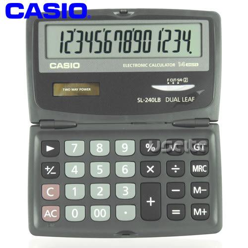 【CASIO】攜帶式14位計算機SL-240LB