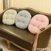 坐墊 棉麻加厚純色坐墊椅墊飄窗圓墊子地板蒲團日式打坐靠墊功夫茶坐墊   酷斯特數位3C