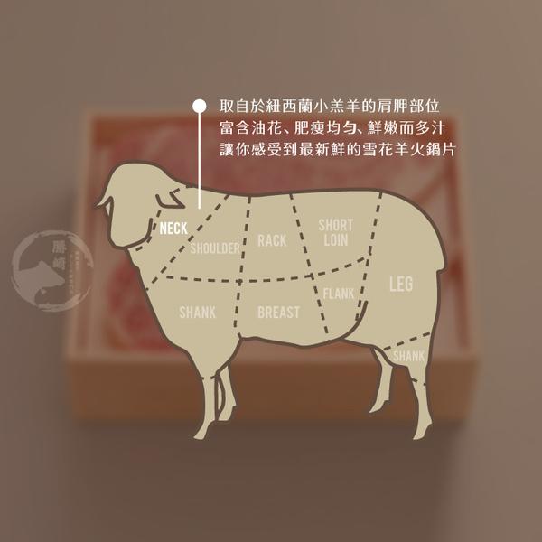 【免運直送】紐西蘭雪花羊火鍋肉片4盒組(200公克/1盒)