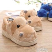 棉拖-冬季居家可愛卡通男女情侶毛毛棉拖鞋包跟保暖室內厚底帶后跟棉鞋 依夏嚴選