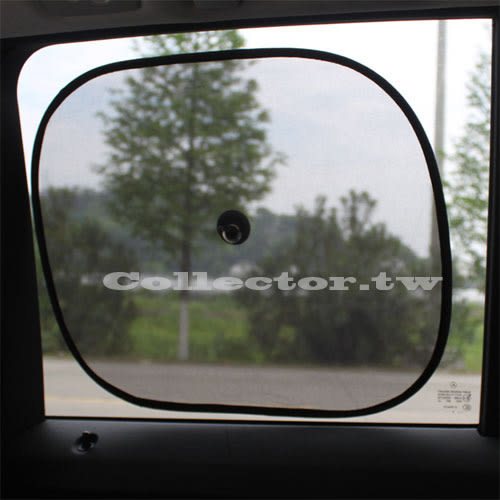 【萊爾富199免運】夏季防曬避光汽車遮陽檔(一式兩個) 黑色網紗遮光汽車側窗遮陽板