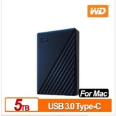 WD 威騰 My Passport for Mac 5TB 2.5吋USB-C行動硬碟(2019)