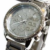 【萬年鐘錶】DIESEL 潮牌 霸氣 三眼 計時碼錶  銀錶面 銀殼  大錶徑  46mm DZ5337