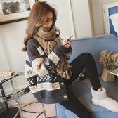 韓版短款寬鬆毛衣外套女開衫百搭聖誕紅色針織衫潮 沸點奇跡