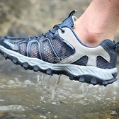 戶外溯溪鞋夏季男女透氣網布涉水鞋水陸兩棲鞋輕便防滑徒步登山鞋 快速出貨