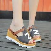 時尚外穿女拖鞋厚底拖鞋