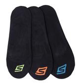 Skechers Neon Liner Sock [S101589-001] 女 船型襪 隱形襪 透氣 舒適 3入 黑